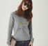 Cat Embroidery Wool Sweater
