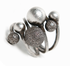 Rustic Silver Ball Ring