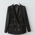 Casually smart double breasted jacket with 2 functional pockets