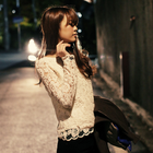 All lace blouse with pretty hem and cuff finish