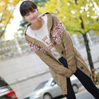 chic and stylish knitted long cardigan with beautiful patterns