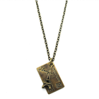 love letter postcard from Paris and Eiffel Tower pendant chain necklace