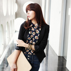 Tailored cropped blazer with arch shape hem at the back