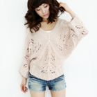 Vintage inspired chunky knit jumper